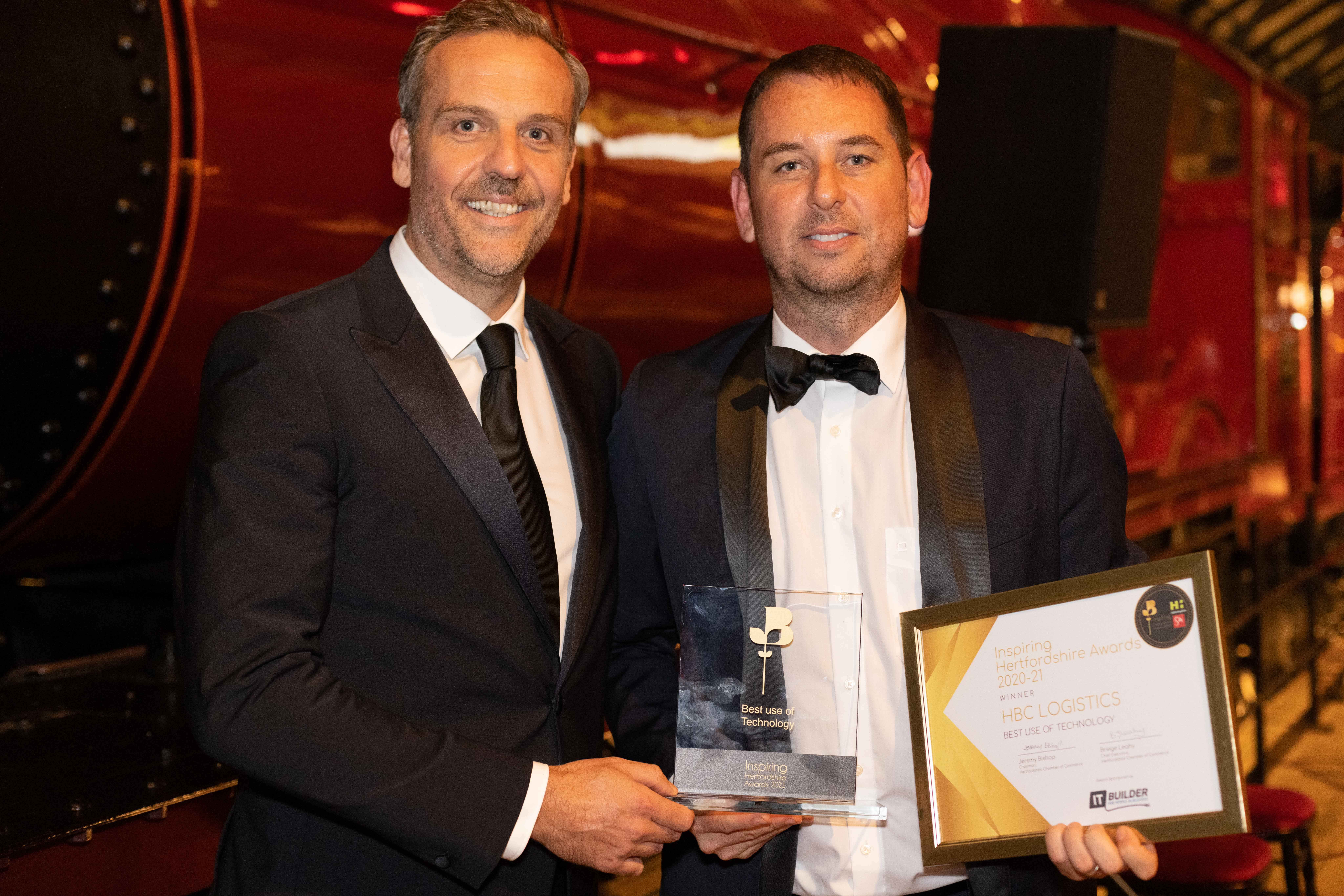 Hertfordshire logistics company scoops Best Use of Technology awards at magical Chamber of Commerce ceremony